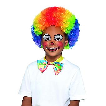 Childrens Rainbow Clown Wig Fancy Dress Accessory