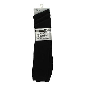 Girls Bay Knee High Cotton Rich Socks