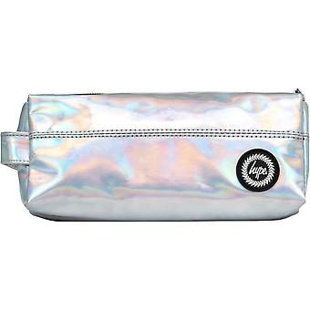 Hype Holographic Pencil Case Silver