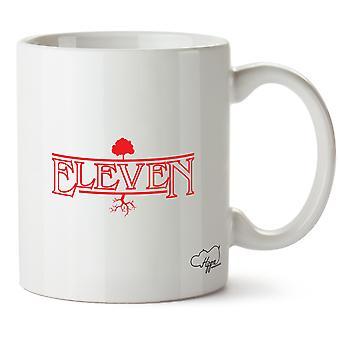Hippowarehouse Eleven Printed Mug Cup Ceramic 10oz
