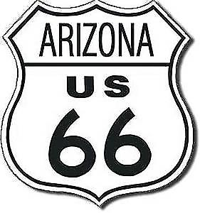 Route 66 Arizona shield metal sign