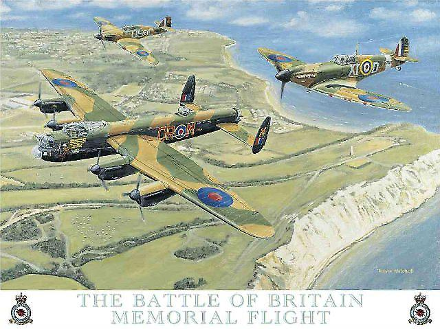 Battle Of Britain Memorial Flight metal sign (og 4030)