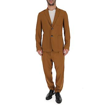 Barena Venezia Brown Cotton Suit