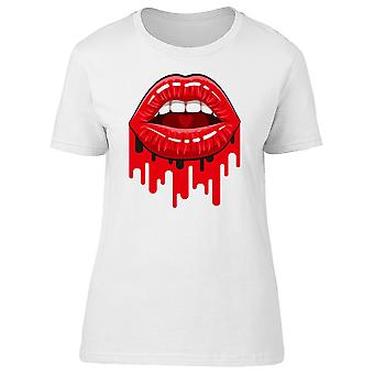 Red Lipsticks Dripping Red Tee Men's -Image by Shutterstock
