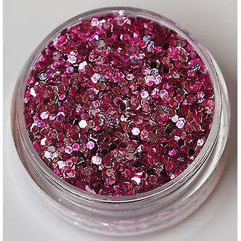 Two-tone hexagon glitter Pink silver