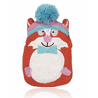 Mini Hottie Knitted Cover Gel Hand Warmer: Funky Fox