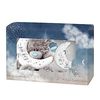 Me To You Moon and Back Bear & Plaque Set (Gift Boxed)