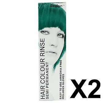 Semi Permanent Hair Dye by Stargazer - Tropical Green x 2 Packs
