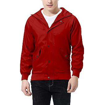 Allthemen heren jas rits Hooded Big Pocket casual jas
