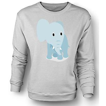 Womens Sweatshirt I Love Elephants - Cute Elephant