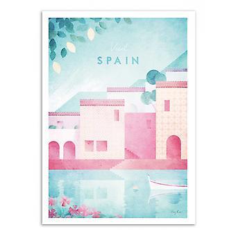 Konst-affisch-Visit Spanien-Henry Rivers 50 x 70 cm