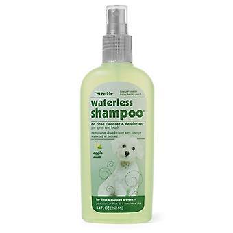 Petkin Waterless Dog Shampoo 250Ml Cleanser & Deodoriser Apple Mint