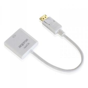 Approx (APPC16) DisplayPort To HDMI Female Converter, White