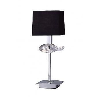 Lampe de table Mantra Akira 1 Light E14, Chrome poli avec ombre noire