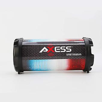 Axess Personal Bluetooth Media Speaker With 3.5mm Aux Jack and FM Radio - US