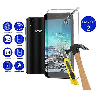 Pack of 2 Tempered Glass Screen Protection For Imo Q3 Plus 5