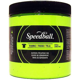 Speedball Fabric Screen Printing Ink Fluorescent 8oz-Lime Green FSPIF8-4690