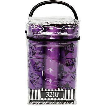 Nandog Waste Bag Replacements 16/Pkg-Doki Toki Purple WBR16-8716