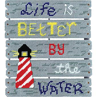 Pallet-Ables By The Water Plastic Canvas Kit-10.5