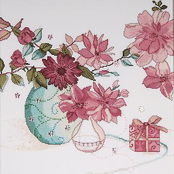 Pastel Floral Counted Cross Stitch Kit 15