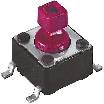 Pushbutton, Printed switches 12 Vdc 0.05 A 1 x Off/(On) Diptronics DTSM-644R-V-B momentary 1 pc(s)