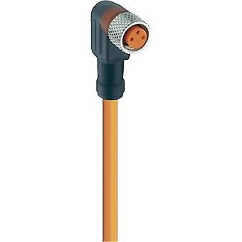 Lumberg Automation 11336 RKMWV/LED A 3-06/2 M Actuator-Sensor Connection Line, M8 Connector, Straight Orange