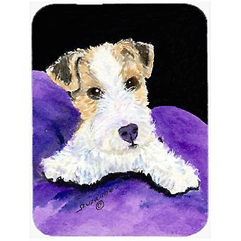 Fox Terrier Glass Cutting Board Large