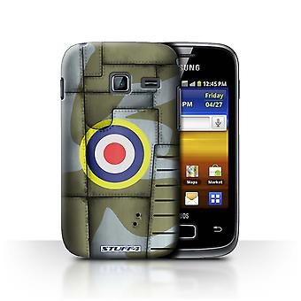 STUFF4 Case/Cover voor Samsung Galaxy Y Duos/S6102/Groot-Brittannië/Groen/Airplane Fighter Wing