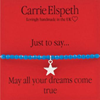 Carrie Elspeth May All your Dreams Come True Stretch Bracelet