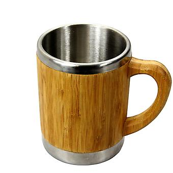 Woodquail Bamboo Mug with Handle Tea Coffee Home Office Cup 400 ml