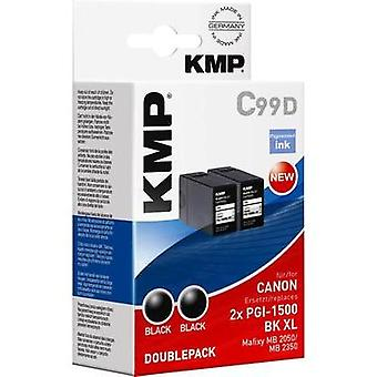 KMP Ink replaced Canon PGI-1500XL BK Compatible Pack of 2