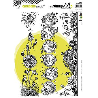 Carabelle Studio Cling Stamp XXL A4-Wonderful Flower Strips SA40011