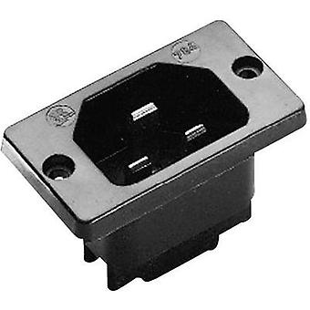 Hot wire connector C22 ATT.LOV.SERIES_POWERCONNECTORS 784 Plug, vertical mount Total number of pins: 2 + PE 16 A Black K