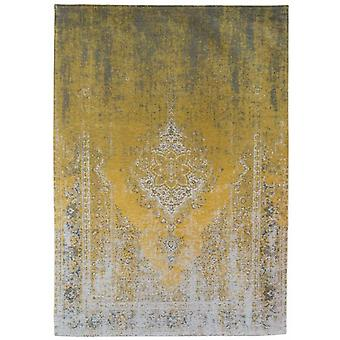 Distressed Yuzu Cream Medallion Flatweave Rug 60 x 90 - Louis de Poortere
