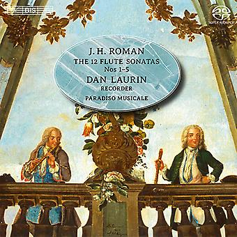 Roman / Laurin / Paradiso Musicale - 12 Flute Sonatas Nos. 1 - 5 [SACD] USA import