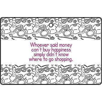 Winkelen / geld kan kopen geluk auto luchtverfrisser