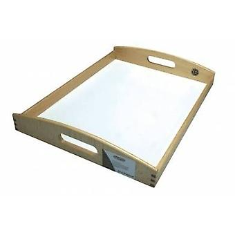 Beech Tray with White Base