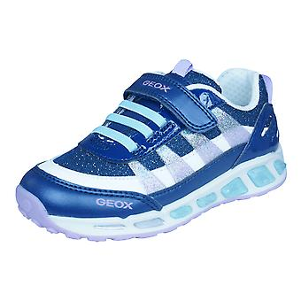 Geox J Shuttle G.A Girls Trainers / Shoes - Navy Blue