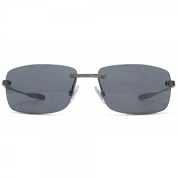 FCUK Rimless Sunglasses In Dark Gunmetal