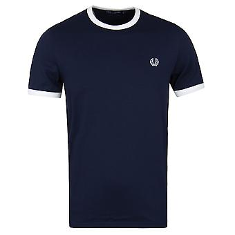 Fred Perry Carbon Blue Ringer Short Sleeve T-Shirt