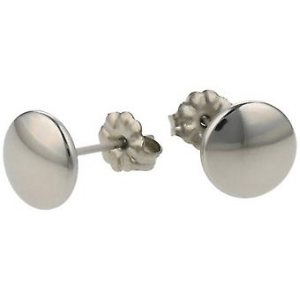 Ti2 Titanium Smartie Stud Earrings - Natural Polished