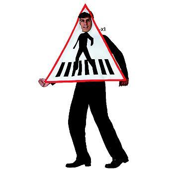 Men costumes  Pedestrian crossing Board costume