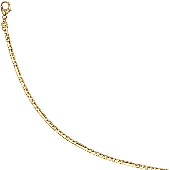 gold bar-armor bracelet 333 gold yellow gold gold bracelet 19 cm carabiner