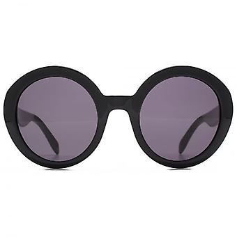 Alexander McQueen Piercing Detail Round Sunglasses In Black