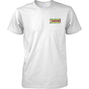 Efeito de bandeira nome Zimbabwe Grunge Country - Mens peito Design t-shirt