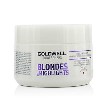 Goldwell Dual Senses Blondes & Highlights 60sec Treatment (luminosity For Blonde Hair) - 200ml/6.8oz