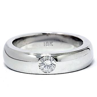 خاتم الذهب الأبيض 18 ك 1/6 ط م وعد الماس جولة