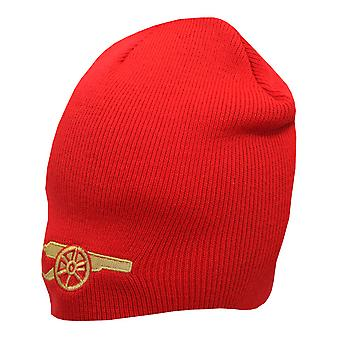 Arsenal FC Official Gunners Design Knitted Beanie Hat