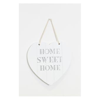 The Fashion Bible White Wood Love Wall Plaque