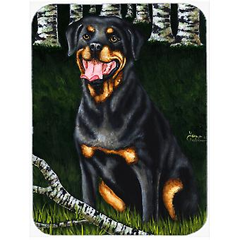 Backwoods Companion Rottweiler Mouse Pad, Hot Pad or Trivet